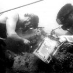Divers completing underwater conservation work
